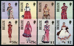 Belize Cultures Stamps 1986 MNH Ethnic Costumes Traditional Dress 8v Set
