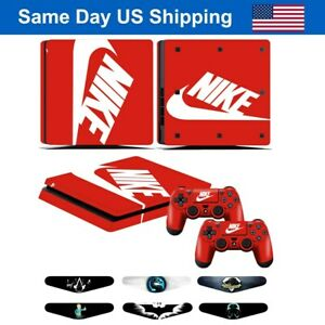 Red Cover Skin Sticker for Sony PS4 Slim PlayStation 4 Slim & 2 Controller Skin