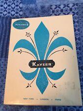 One pair vintage Boxed Kayser Garter stockings Mesh 10 Nude
