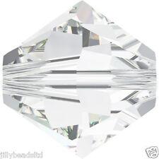 SWAROVSKI 5328 XILION Bicone Beads 4mm: Crystal (50 Perline)