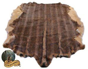 Custom Faux Fur Animal Hide Pelt Rug  Deer Bear Sheepskin  Accent Area Throw