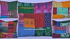 200 Pc Wholesale Lot Indian silk Fabric Kantha Quilt Cushion Pillow Cover Throw