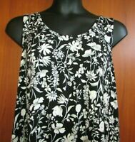Old Navy 2Xl Plus Women's Sleeveless Rayon Blend Black Floral Tunic Top