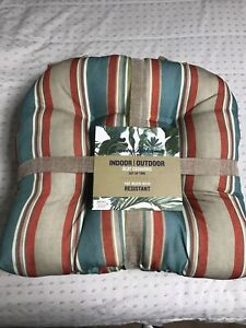 Set Of 2 Tommy Bahama Indoor / Outdoor Seat Cushions Water Resistant NWT