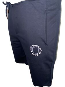 """Mens  Short Cube Logo BNWT Navy/grey Cotton Hugo Boss 2020 Medium 32/34"""" Waist"""