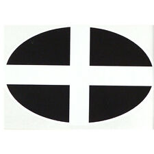 Cornish St Piran's Flag  bumper sticker car decal Made in Cornwall ! Great gift