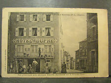 cpa 43 fay le froid rue pittoresque hotel dupré animee