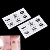 Tatuaje temporal pegatina corona desechable brazo cuerpo impermeable Ar QA