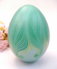 Vintage Collectible Vandermark Art Studio Paperweight Egg Shaped Signed