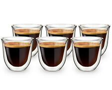 More details for 6pk double wall insulated glass thermal coffee glass mug tea cup 80ml