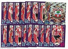 2016 / 2017 EPL Match Attax SOUTHAMPTON (19 Card Set)