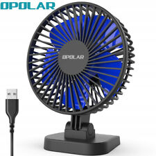 2019 New! OPOLAR Mini USB Desk Fan - Strong Airflow, 3 Speeds, Whisper Quiet Fan