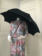 Parapluie Ombrelle Vintage Noir Parfait état Théâtre Costume ancien Accessoire