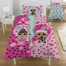 LOL SURPRISE OPPOSITES SINGLE DUVET COVER PILLOWCASE SET REVERSIBLE KIDS GIRLS
