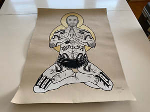 """Mike Giant San Francisco Art Print 2009 signed numbered 18""""x24"""""""