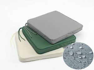 Waterproof Seat Pad Outdoor Garden Furniture 5cm Thick Foam Zip Rattan Cushion