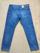 """G-Star Raw Uomo Riban Affusolato Jeans Blu, etichetta W34, Actual W36"""", L32"""", £ 100"""