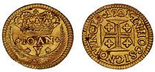 400 GOLD REIS JOHN V / 400 REIS ORO JUAN V. PORTUGAL 1721. AU / SC-.