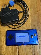 Game Boy Micro Nintendo Console Blu Con Caricatore