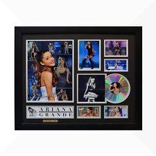 Ariana Grande Signed & Framed Memorabilia - 1CD - Black/Silver Edition
