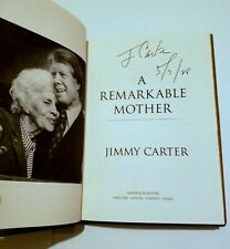 "Jimmy Carter Signed Autograph ""A Remarkable Mother"" 1st printing Hardcover Book"