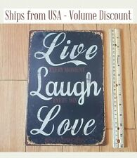 Live Laugh Love Sign Live, Laugh, Love Metal Sign Popular Quote Sign Best Quotes