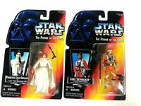 Hasbro Star Wars: Princess Leia Organa & Luke skywalker Action Figures Sealed