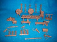 Marx Reissue 1/32nd scale Medieval-Robin Hood playset accessories 35 pieces