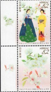 JAPAN 2015 SCOTT 3832-33 DIPLOMAT RELATIONS JAPAN KOREA KIMONO PAIR FreeShipUSA