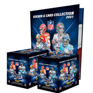 Panini NFL 2021 Collection Football (100 packs) 2 BOXES + HARDCOVER ALBUM