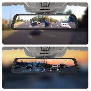 360-degree panoramic 4CH Cameras lens car dvr backup mirror dash camera with gbs