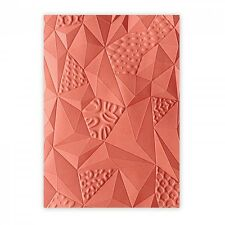 SIZZIX 3-D Textured Impressions Embossing Folder - Jumbled Triangles A6 661259