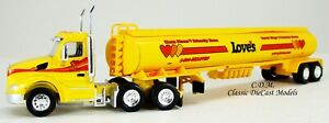 Peterbilt 579 Day Cab LOVE'S w/Gasoline Tanker HO 1/87 Scale TNS132