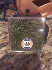Notre Dame Fighting Irish Game Used Turf Capsule with Decal