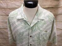 Tommy Bahama Silk Hawaiian Shirt Men's L Multi-color floral 100% Silk