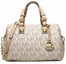 NWOT Michael Kors Grayson Handbag Medium Chain PVC Monogram Satchel, Purse $348