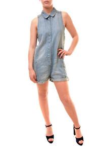 One Teaspoon Women's Authentic Blue Jack Playsuit Blue Jack S RRP $159 BCF84