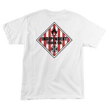 Independent Trucks Warning Skateboard T Shirt White Xl