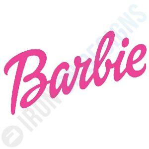 BARBIE LOGO - IRON ON TSHIRT TRANSFERS - A6 A5 A4