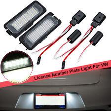 2Pc LED Number License Plate Light For VW GOLF MK4 MK5 MK6 PASSAT EOS ERROR FREE