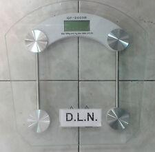 BILANCIA MASSA CORPOREA PESA PERSONE DIGITALE 180 KG LCD RIPIANO VETRO