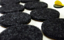 Felt Gliders round Diameter 15mm - 62mm Anthracite, Strong Self - Furniture 3mm