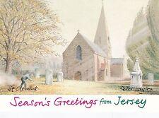 Jersey Parish Churches 1981 set of 4 unused mint condition postcards