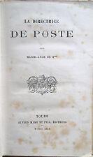 1880 LA DIRECTRICE DE POSTE – ROMANZO LETTERATURA FRANCESE LIBRO PREMIO CHAMBÉRY
