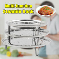 Steamer Shelf Rack Stainless Steel Stand Pot Steaming Tray Cookware Kitchen