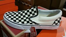 092699c068 Vans Slip On Checkerboard Off White Black Checkered Mens Womens Shoes All  Sizes