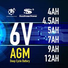 Brand New 6V 4.0AH 4.5AH 5AH 7AH 9AH 12AH AGM  Sealed Lead Acid Battery
