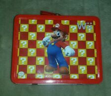 Nintendo Wii Mario Tin Lunch Box Kit with accesories
