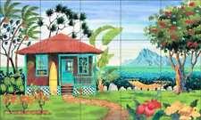 Tropical Tile Backsplash Altman Ceramic Beach Art Mural RWA003