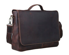 7c586287d403 TIDING Men Antique Style Leather Briefcase Laptop Messenger Shoulder Bag  Handbag